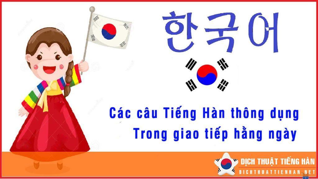 Học tiếng Hàn giao tiếp thông dụng hàng ngày
