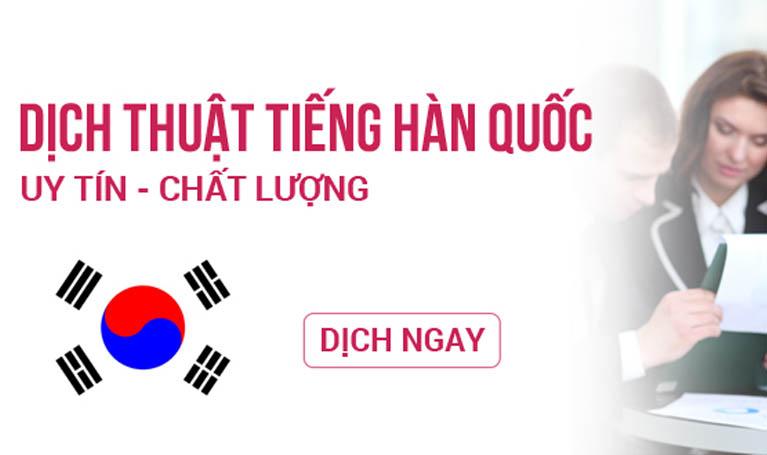 Dịch thuật công chứng tiếng Hàn tại Hà Nội